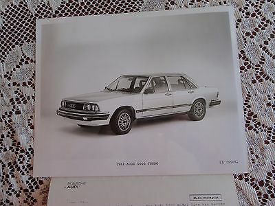 8x10 factory advertising photo with media info 1982 AUDI 5000 TURBO