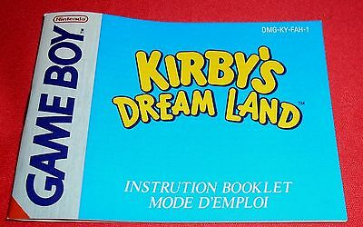 Notice Kirby's Dream Land FAH [Nintendo Game Boy] Sans jeu Super *JRF*