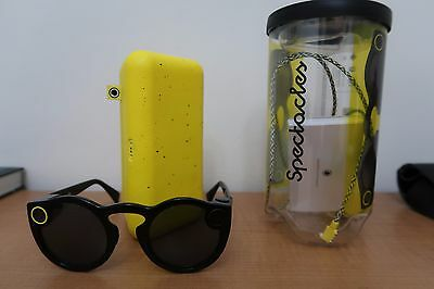 Snapchat Spectacles (Snap) Black Hardly Used Free Shipping