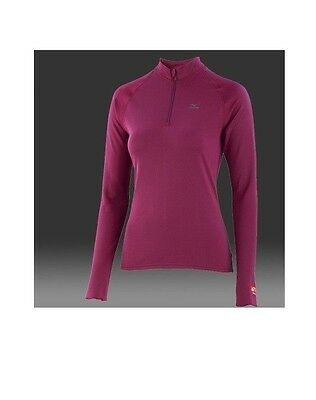 MIZUNO Breath thermo 1/2 zip T-shirt manches longues femme taille L