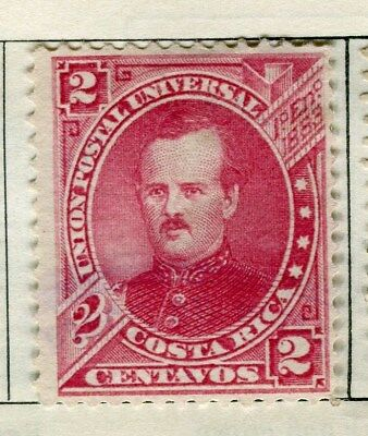 COSTA RICA;  1880 early classic issue Mint unused 2c. value