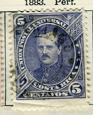 COSTA RICA;  1880 early classic issue fine used 5c. value