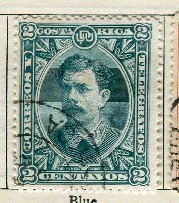 COSTA RICA;  1889 early classic issue fine used 2c. value