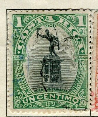 COSTA RICA;  1901 early classic issue fine used 1c. value