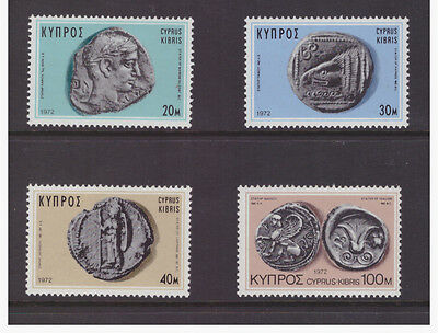 Cyprus 1972 Art  Antique Old Coins History set mint MNH stamps