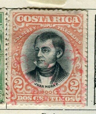COSTA RICA;   1901 early classic issue fine used 2c. value