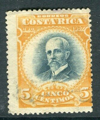 COSTA RICA;  1901 early classic issue fine used 5c. value