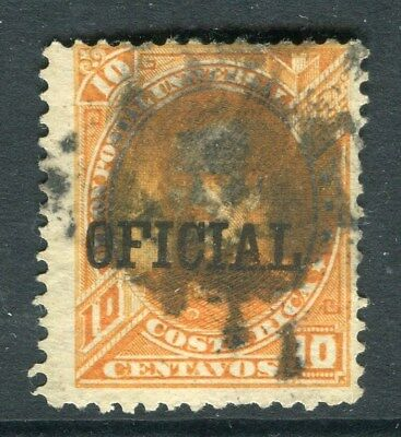 COSTA RICA;  1889 early classic Official issue used 10c. value