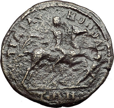 CARACALLA on HORSE Spearing Enemy 198AD Thrace Traianopolis Roman Coin i59535