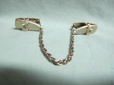 Vintage Silver Tone   Sweater Guard