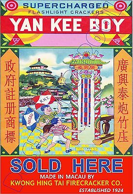 """YANKEE BOY Firecrackers SOLD HERE - POSTER 13x19"""" - Fireworks !!"""