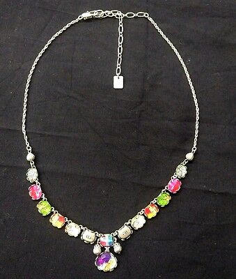 Gorgeous Ayala Bar Multicolored Bead Mixed Metal Necklace Israel