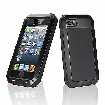 Lunatik TAKTIK Case for Apple iPhone 5/6/7 Black White Shock Proof Gorilla Glass