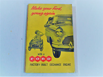 Rare  Ford  Engine Exchange Service Pamphlet  1930 S  /  1950 S.