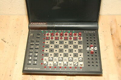 Rare Kasparov Chess Computer Cavalier, Black rook switch with pawn with dot