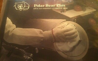 Ansell 74-251 Polar Bear Plus Cut Resistant Safety Butcher Glove Size 9 LARGE