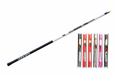 3 Meter pre Elasticated Carp Telepole/Whip with 6 carp fishing pole rigs