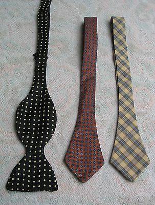 Lot Of 7 Bowties And Strip Ties