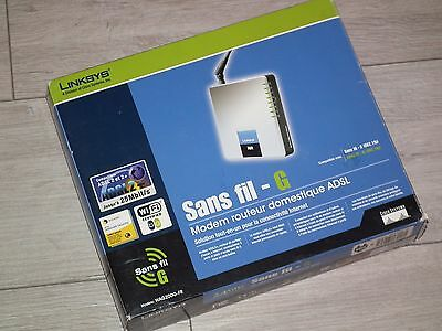 Linksys modem passerelle routeur WAG54G-FR Port 54Mbps Wireless Router Switch