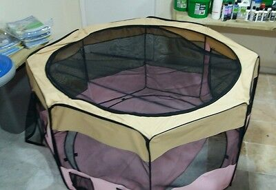 portable fabric dog cage