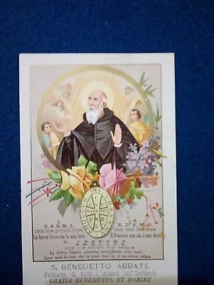 Antico Santino Holy Card San BENEDETTO ABATE