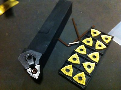 """Lathe Indexible 1"""" Tool Holder WNMG 432 W/ Pack Of 10 Inserts"""