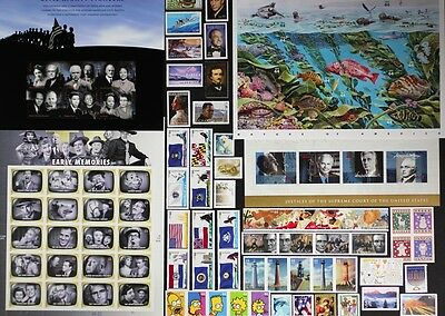 US 2009 Commemorative Year Set 96 stamps including Sheets, Mint NH, see scans