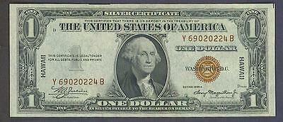 1935A $1 Better YB Block *UNC* HAWAII Silver Certificate - WWII note