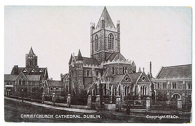 Vintage postcard Christchurch Cathedral Dublin, Ireland