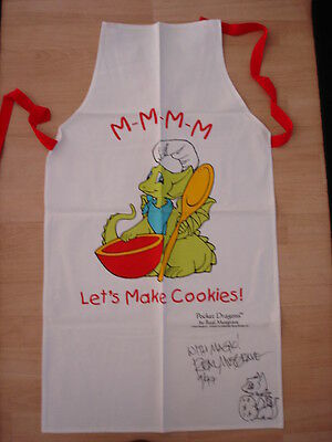 Pocket Dragons  APRON SIGNED BY REAL