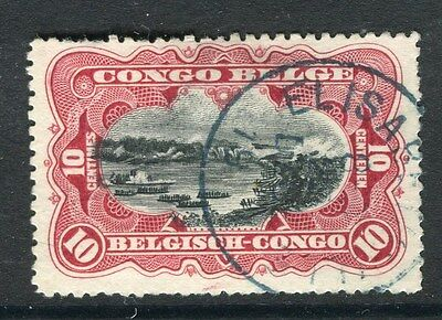 BELGIUM CONGO;  1900s early classic pictorial issue used 10c. value, Postmark