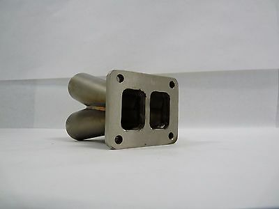 Stainless Steel Collector 4 into 1 w/ T3 divided Flange