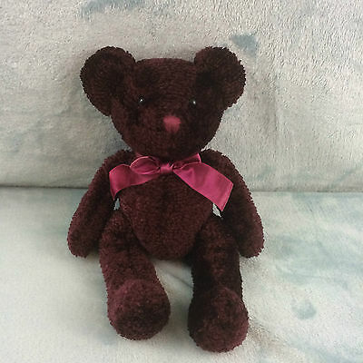 Russ Bears from the Past Serenade Purple Teddy Bear Beanie Soft Toy 11""