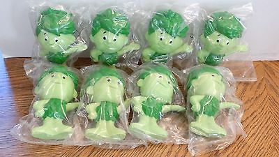 "Lot of 8 Sealed SPROUT Jolly Green Giant Rubber Vinyl Toy Dolls 6.5"" 1996"