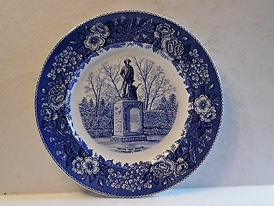 Old English Staffordshire Ware Minute Man Statue Concord Mass. Souvenir Plate