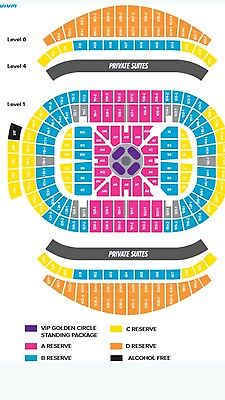 Adele tickets x 2 - Fantastic view - B Reserve - Sydney Saturday night.
