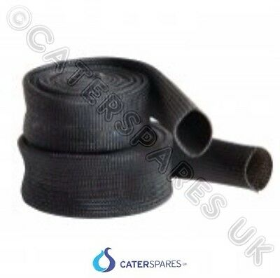 20MM BLACK UNIVERSAL HIGH TEMPERATURE RESIN PROTECTION SLEEVING RATED 500C METRE