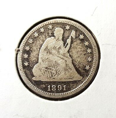 1891 Seated Liberty quarter - Better date