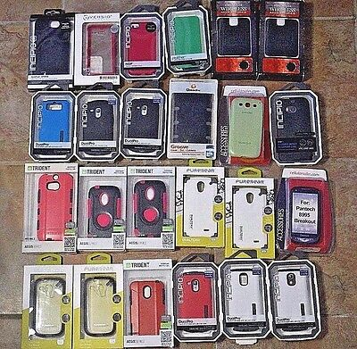 Large Bulk Lot of Cell Phone Cases #1 - 24 Pieces - Trident, Incipio, PureGear