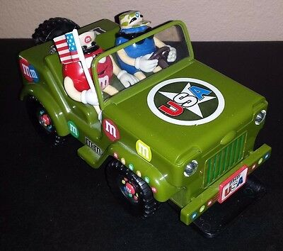 M&M Military Jeep Vehicle Candy Dispenser with Sounds & Lights USA