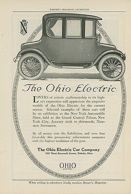 1917 Ohio Electric Car Ad New York Automobile Show OH NY Auto