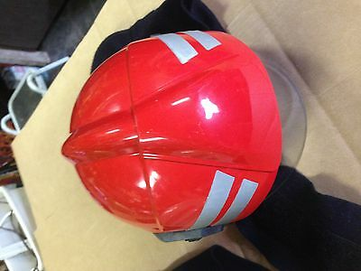DRAGER HPS 6100 FIRE/RESCUE HELMET, RED COLOR with Neck Curtain