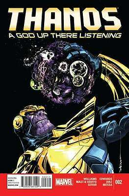 Thanos: A God Up There Listening #2 in Near Mint + condition. FREE bag/board