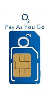 O2 Pay As You Go / PAYG  Sim Card for Mobile Phones/ Smartphone / Tablets