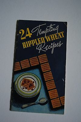 1936 24 Tempting Rippled Wheat Recipes Loose-Wiles Biscuit Co. Ad Cook Booklet