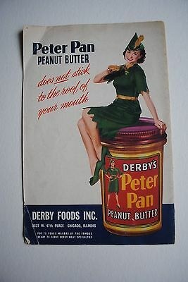 Vintage Peter Pan Peanut Butter Advertisment Booklet Recipes Derby Foods Inc.