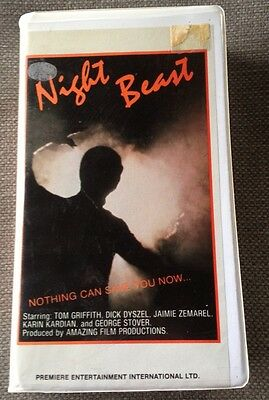 Night Beast VHS *Rare* Clamshell HORROR CULT Premiere Entertainment Tom Griffith