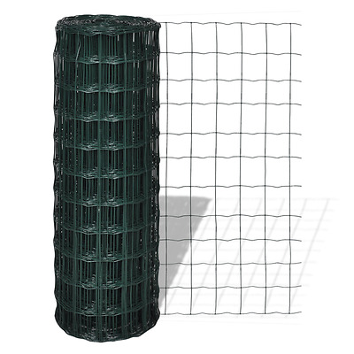 S# Fence Panel 10x0.8m Steel Mesh Landscaping Frame Tree Guards Garden Patio Gre