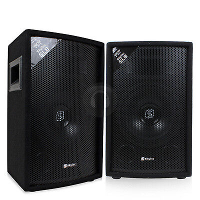 "2x Skytec 8"" Inch Passive PA Speakers Disco DJ Sound Package 800W UK Stock"