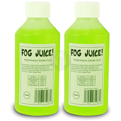 SMOKE FLUID DOUBLE PACK FOR FOG MACHINES IDEAL FOR DJ DISCO PARTIES UK Stock